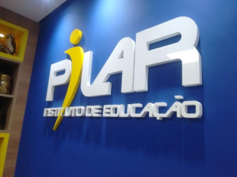 Letra Caixa Alta Pacaembu - Letra Caixa Pvc