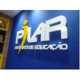 letra caixa de pvc Vila Buarque