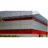 revestimento de fachada em acm preço Sacomã